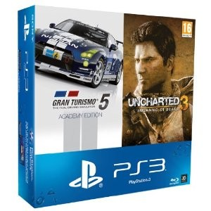 Console Playstation 3 500 Gb + GT5 + Uncharted 3
