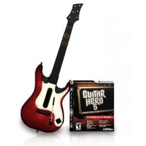 Guitar Hero 5 + chitarra (usato) (PS3)