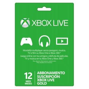 Xbox Live - Abbonamento Gold Card 12 Mesi