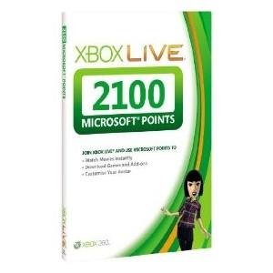 XBOX Live 2100 points (xbox)